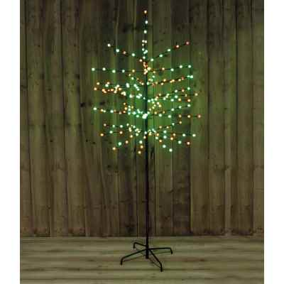 6ft 200 LED Red and Green Berry Tree