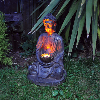 Buddha with Solar Powered Light
