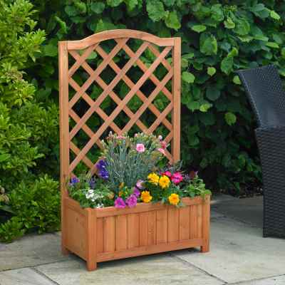 Rectangular Planter with Trellis.