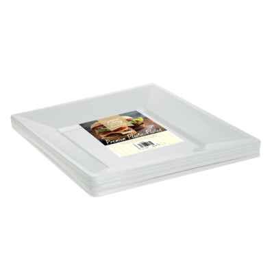 8 x 7inch Square White Plastic Disposable Plates