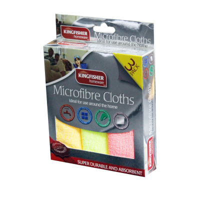 3 Pack of Microfibre Cloths