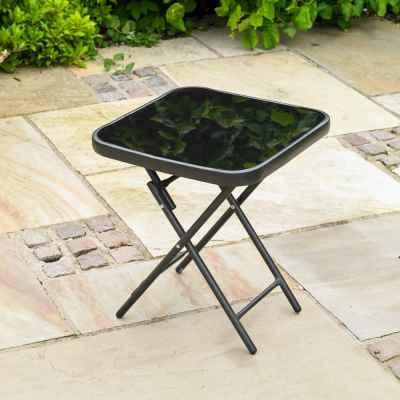 Folding Drinks Side Garden Patio Table
