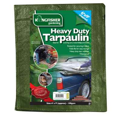 Heavy Duty Tarpaulin 1.8m(6ft)x2.7m(9ft) 100gsm