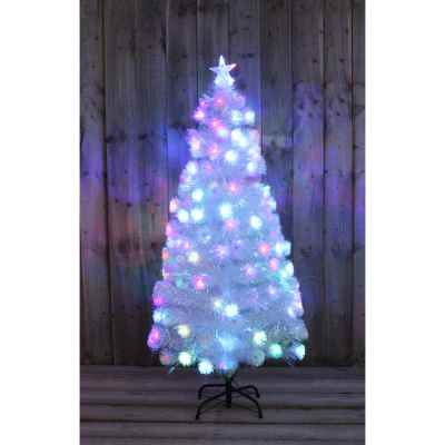 5ft White Rainbow Tree with Multi Coloured LEDs