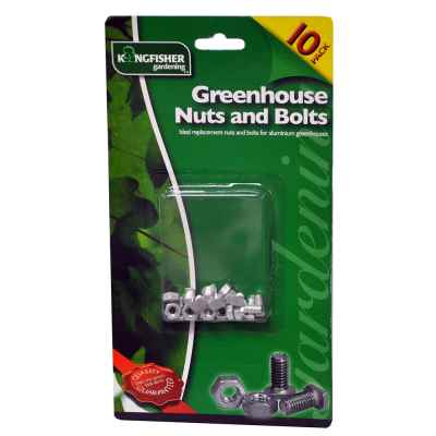 10 pack of Greenhouse Nuts and Bolts