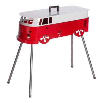 Red and White Camper Van BBQ 73cm x 30cm