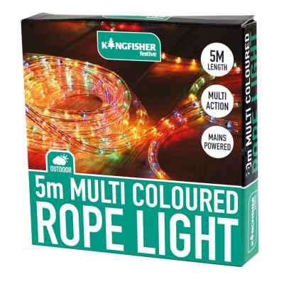 5m Multi Coloured Multi Action Rope Light
