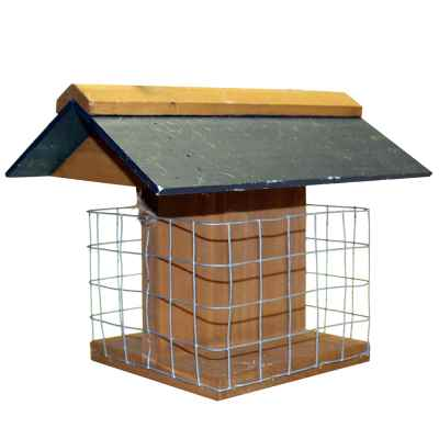 Fat Ball Feeder Slate Roof FSC 100%-TT-COC-005449