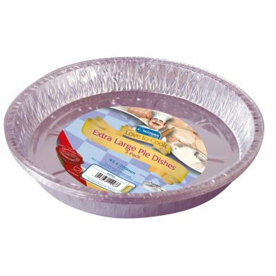 3 Pack of Extra Large Foil Pie Dishes