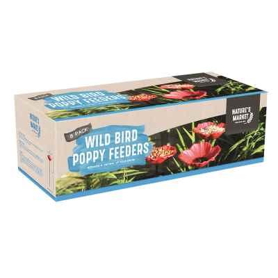 8pc Poppy Bird Feeders