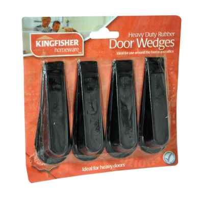 4 Pack of Rubber Door Stop Wedges