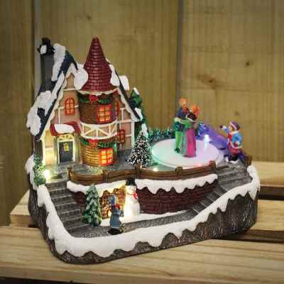 Battery Operated Small Village Scene