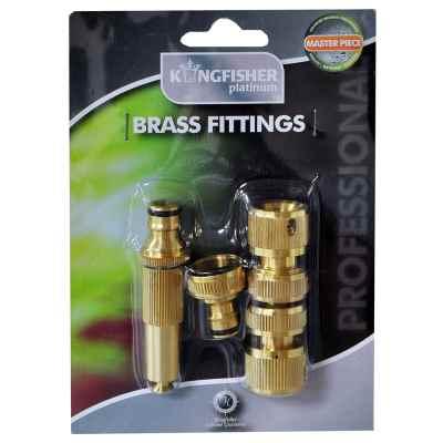 Pro Platinum Brass Hose Fitting Set