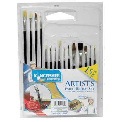 15 Pack of Artist's Paint Brushes