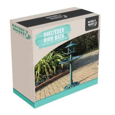 Bird Bath with Sheltered Feeding Table