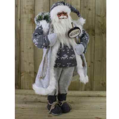 90cm Grey Standing Father Christmas
