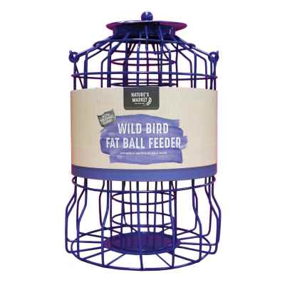 Suet Fat Ball Feeder with Squirrel Guard