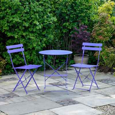 Purple Metal Bistro Set