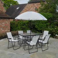6 Piece Garden Furniture Set Cream