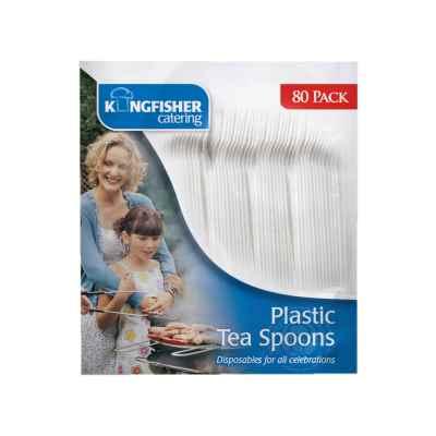 Pack of 80 Plastic Tea spoons