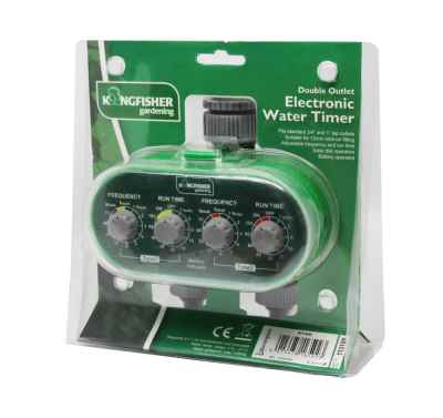 Twin Outlet Electrical Water Timer