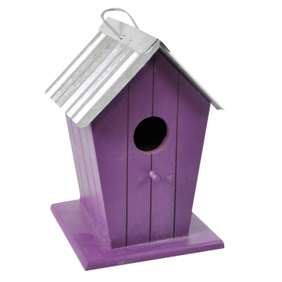 Wooden Beach Hut Bird House Nesting Box