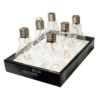 Small Glass Bulb Shaped Candle Holder