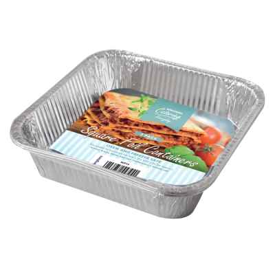 3 Pack of 8inch Square Foil Roasting Trays