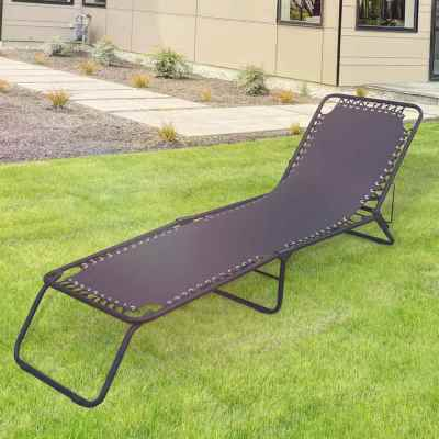 Black Garden Sun Lounger