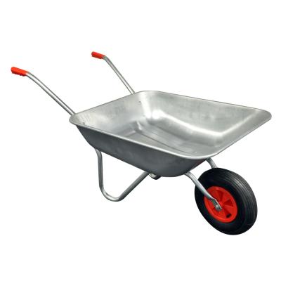 65L Galvanised Metal Wheelbarrow