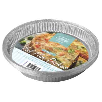 6 Pack of Large Foil Flan Dishes