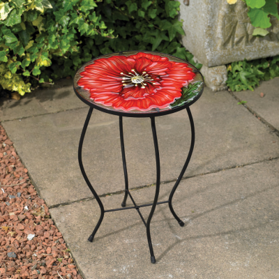 Glass Poppy Table