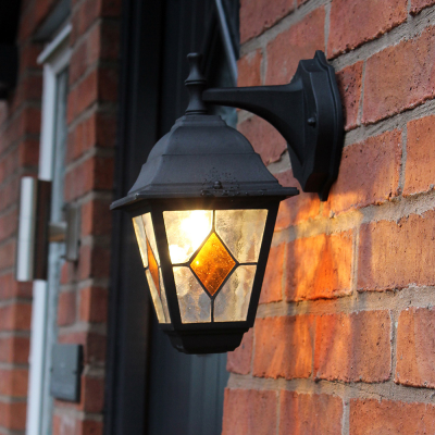 Victorian Wall Light with Stained Glass