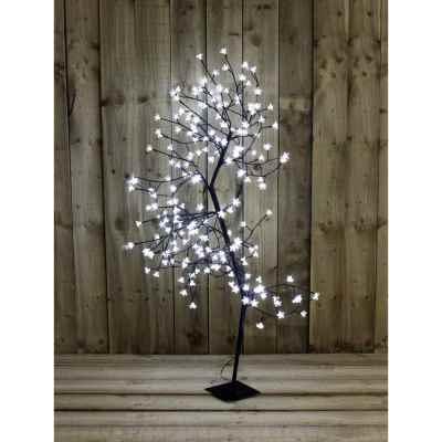 150cm White Blossom LED Tree