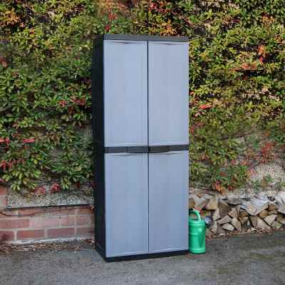 Large Garden Storage Cabinet Dark Grey