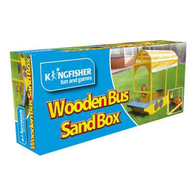 Wooden Bus Sandbox