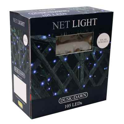 105 Solar Bright White LED Net Lights