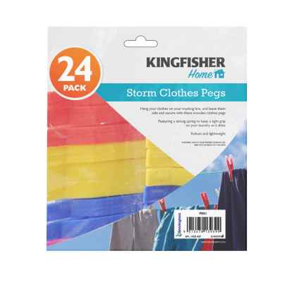24 Pack Large Grip Storm Clothes Pegs