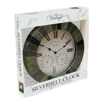 14 Inch Silver Bell Clock