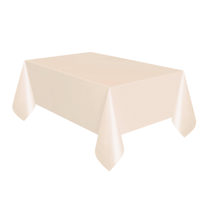 Cream Paper Table Cloth with Plastic Backing
