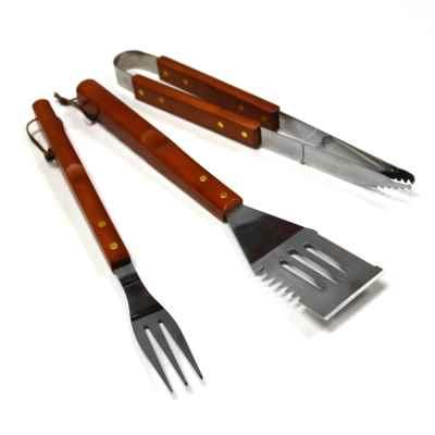 Wooden BBQ Tool Set