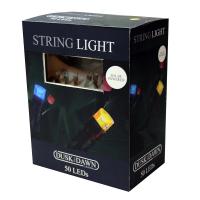 50 Multi Coloured LED Solar String Lights