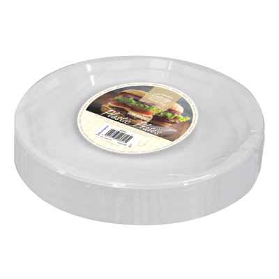 50 Pack 10inch White Disposable Plastic Plates
