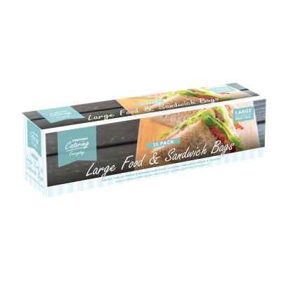 25 Pack Press Seal Plastic Food Bags