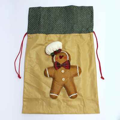 2 Assorted Gingerbread Man Sacks
