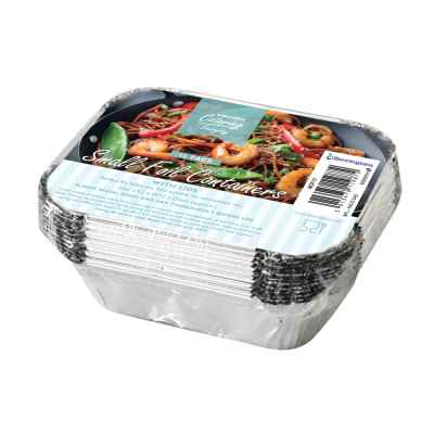 12 Pack of Small Foil Food Containers with Lids