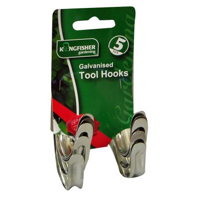 5 Pack Galvanised Tool Hooks
