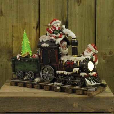 Train with Santa & Snowman