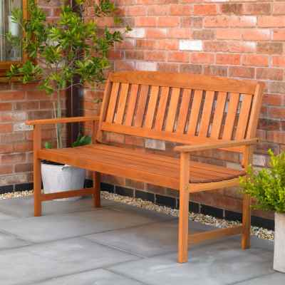 3 Seater Hardwood Garden Patio Bench