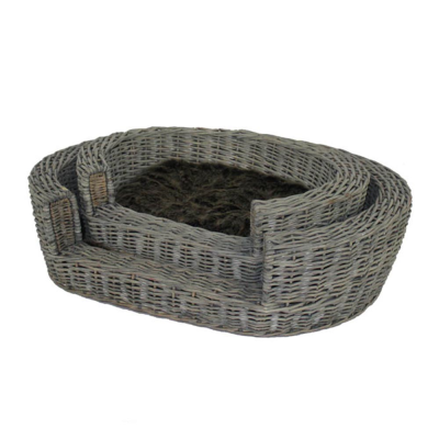 Set of 2 Willow Pet Baskets